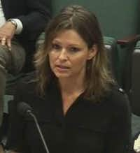 Lynn Davenport testified before the state Senate Committee on Education in Austin in August.