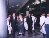 Ambassador Robert Jordan (left) in Riyadh. (File Photo/Saudi Government)