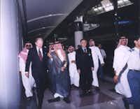 Ambassador Robert Jordan (left) in Riyadh.(File Photo/Saudi Government)