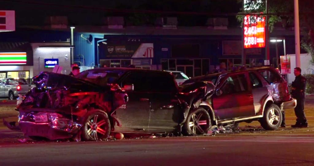 drunken driver dies after she rear ends pickup at red light in