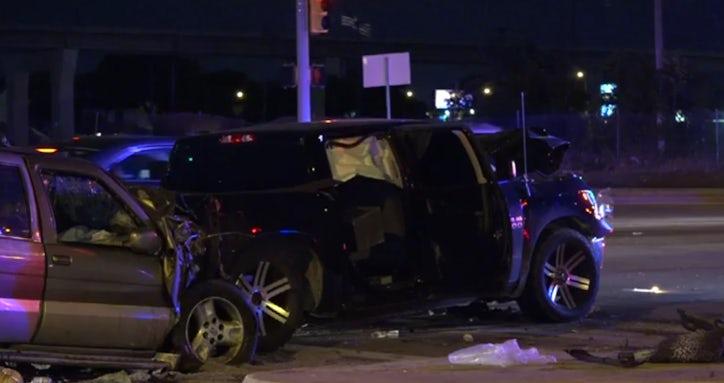 diy car crash drunken driver dies after she rear ends pickup at red light in