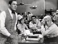 """<p><p style=""""font-style: italic;"""">Inherit the Wind<span style=""""font-size: 1em; font-style: normal;"""">is loosely based on the 1925 """"monkey trial"""" about high school teacher John T. Scopes.</span></p></p>(United Artists)"""