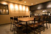 Starbucks opened this store with a training center attached in the Jamaica neighborhood of Queens, New York in March 2016.  The store is the first one of about 15 that Starbucks is opening in low- and middle-income neighborhoods.(Jon Gurinsky/Starbucks)