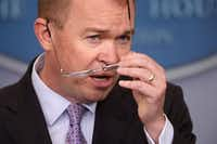 White House budget director Mick Mulvaney discusses the Trump administration's proposed 2017 federal budget at the White House on Tuesday. (Photo by Chip Somodevilla/Getty Image(Chip Somodevilla/Getty Images)