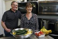 Rob and Deb Sorich run Central Perks, a café in downtown Marshall that serves lunch fare. Most of their business comes from locals, but they have gotten a bounce from law firms who order catering.(David Woo/The Dallas Morning News)