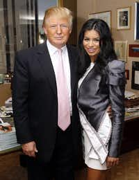 In this May 20, 2010 file photo, Donald Trump poses with newly-crowned Miss USA Rima Fakih at his office in New York. (AP Photo/Jason DeCrow, file)(Jason DeCrow/AP)