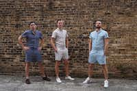 The Chicago-based Original RompHim is making a social media splash with its new creation, the male onesie. The team's kickstarter campaign has already raised more than $200,000.(supplied/Original RompHim)