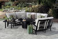 The Georgetown modular seating collection from Mallin makes it easy to arrange seating around a fire pit.(Mallin Casual furniture)