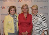From left: Ka Cotter; Erin Botsford, CEO and founder of Botsford Financial Group; and Jennifer Ware, CEO of Wings, are shown at Wings' Mentors & Allies Luncheon on May 1.(Women's Enterprise Magazine)