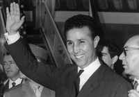 Algerian president Ahmed Ben Bella was received at the White House in 1962 by President John F. Kennedy and, afterward, carried a private message to Fidel Castro that said the U.S. knew about Soviet missile installations in Cuba.(File Photo 1965/AFP/Getty Images)