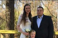 Harlos Hardee with his wife and son.(GoFundMe)