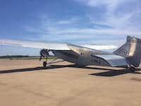"""<p><span style=""""font-size: 1em; background-color: transparent;"""">A 1928 Ford Tri-Motor, or """"Tin Goose,"""" visited Dallas' Executive Airport for the Memorial Day weekend.</span></p>(Jacquielynn Floyd/DMN Staff)"""