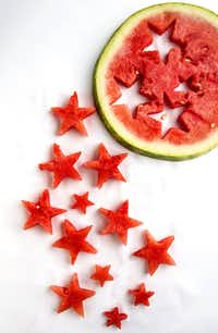 This star treatment is fun, but you don't have to get quite so fancy when you serve watermelon. We're partial to the smile shape.(Bill Hogan/The Chicago Tribune)