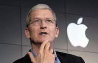IApple CEO Tim Cook was among those who signed the letter to Gov. Greg Abbott. (File Photo/The Associated Press)