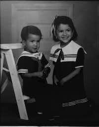 Patrick Zamarripa and his sister, Laura, dressed as sailors in this family photo. They both joined the Navy.(Courtesy photo)
