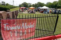 The new farmers market near the old football field on the Paul Quinn College campus.(Jae S. Lee/Staff Photographer)