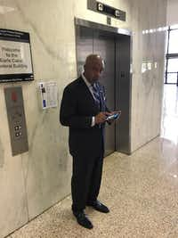 Anthony Robinson, the DA's former top investigator, told a federal judge he was embarrassed and ashamed for taking a bribe to have a criminal case dismissed.(Kevin Krause/Staff)