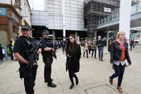A suicide bombing outside the arena at the end of an Ariana Grande concert last week in Manchester, England, killed 22 people.(Owen Humphreys/The Associated Press)