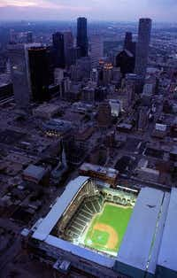 Minute Maid Park (then Enron Field) opened in Houston in March 2000 without many of the extra security measures that stadiums nationwide were forced to adopt after the Sept. 11, 2001, terror attacks.(AP file photo)