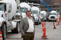 Bill Sandbrook, President & CEO of Euless-based U.S. Concrete, is overseeing one of the company's largest projects to date: The Union Dallas project in Uptown. It's already finished work on Toyota's North American headquarters in Plano and has ongoing jobs at LaGuardia Airport, the World Trade Center complex and Hudson Yards in New York.(David Woo/Staff Photographer)