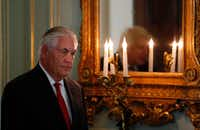 "Secretary of State Rex Tillerson had said that the U.S. is ""better served by being at the table"" for the Paris deal.(Adrian Dennis/Agence France-Presse)"