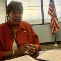 Rep. Eddie Bernice Johnson, D-Dallas, spoke May 29, Memorial Day, in her office about how Donald Trump's election has changed Congress — and how it hasn't.(Michael A. Lindenberger/Staff)