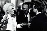 On Jan. 15, 1991, Ann Richards was sworn in as governor.  (File Photo /The Dallas Morning News)