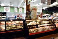 The charcuterie case at Jimmy's Food Store in Dallas.(Ben Torres/Special Contributor)