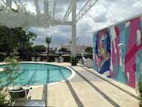 The pool outside the new Lorenzo Hotel has a view of downtown and modern art.(Steve Brown)