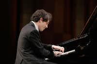 Leonardo Pierdomenico performs in the semifinal round of the Van Cliburn International Piano Competition on June 5, 2017, at Bass Performance Hall in Fort Worth.(Ralph Lauer/Van Cliburn Foundation)