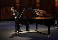Kenneth Broberg takes a bow at the semifinal round of the Van Cliburn International Piano Competition on June 5, 2017, at Bass Hall in Fort Worth.(Carolyn Cruz/Van Cliburn Foundation)