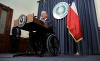 Texas Gov. Greg Abbott announces that there will be a special session of the Texas Legislature. (AP Photo/Eric Gay)(Eric Gay/AP)