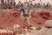 Nineteen-year-old Bruce Meyer at a fire base in the III Corps area, somewhere northwest of Saigon near the Cambodian border in 1970.(Courtesy Bruce Meyer)