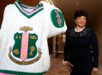 <p>Beverly Collymore has been a member of Alpha Kappa Alpha for 60 years.</p>(Vernon Bryant/Staff Photographer)