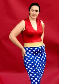 Elizabeth Nelms said Wonder Woman helped her embrace her height and become more comfortable with herself.(Tailyr Irvine/Staff Photographer)