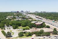 Brinker International's current headquarters is at the southwest corner of LBJ Freeway and Hillcrest Road in North Dallas.(Cushman & Wakefield)