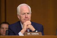 Sen. John Cornyn, R-Texas, listens to testimony during a hearing about the Foreign Intelligence Surveillance Act, on Capitol Hill in Washington on June 7, 2017.(Susan Walsh/The Associated Press)