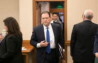 <p><br>Hank Whitman, commissioner of the Department of Family and Protective Services, arrives at a meeting of the Senate Finance Committee at the Capitol in Austin in January.</p>(Jay Janner/Austin American-Statesman)