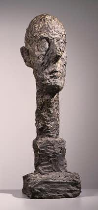 Alberto Giacometti 'Monumental Head,' 1960 bronze, acquired 1962. The Phillips Collection, Washington, D.C. © 2017 Alberto Giacometti Estate / Licensed by VAGA and ARS, New York, NY(The Kimbell Art Museum )