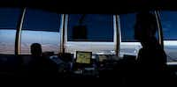 Air traffic controllers work at DFW Airport's west air traffic control tower in Irving. (2013 File Photo/Staff)