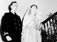George H.W. Bush and Barbara Pierce married on Jan. 6, 1945, in Rye, N.Y. (George Bush Presidential Library/ )