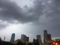 Clouds gathered over the downtown Dallas skyline Friday morning.(Irwin Thompson/Staff Photographer)