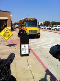 Grand Prairie Police Chief Steve Dye spoke to the media in 2013 about the city's ban on texting while driving.(File Photo/The Dallas Morning News)