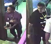 These two men were identified as suspects in the shooting.(Dallas Police Department)