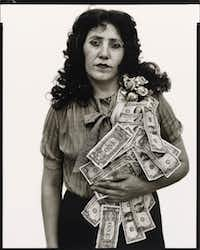 <i>Petra Alvarado, factory worker, El Paso, Texas, on her birthday 4/22/82</i>by Richard Avedon is part of the new show at the Amon Carter Museum of American Art.(The Richard Avedon Foundation)