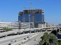 Liberty Mutual's 19-story office towers on the Dallas North Tollway will open later this year.(Jae S. Lee /Staff Photographer)