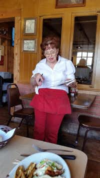 Helen Wallace, 74, has worked as a waitress at Isaack Restaurant in Junction for most of the past 50 years. She moved to town from East Texas in 1965.(Frank L. Christlieb/Staff)