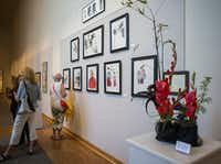 An ikebana floral arrangement is among the works on display as part of the Association of Oriental Arts' exhibit at the Irving Arts Center.  (Ryan Michalesko/Staff Photographer)