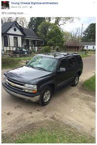 Keys posted this picture of a Chevrolet Tahoe on Facebook in March 2015.
