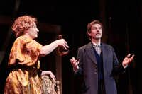 Jennifer Kuenzer and John Kuether play Desiree and Fredrik in <i>A Little Night Music</i> at Theatre Three in Dallas.(Brandon Wade/Special Contributor)